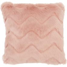 "Faux Fur Vv056 Blush 16"" X 16"" Throw Pillow"