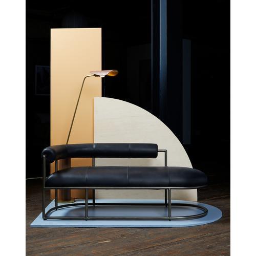 Astrid Floor Lamp-dark Brown Leather