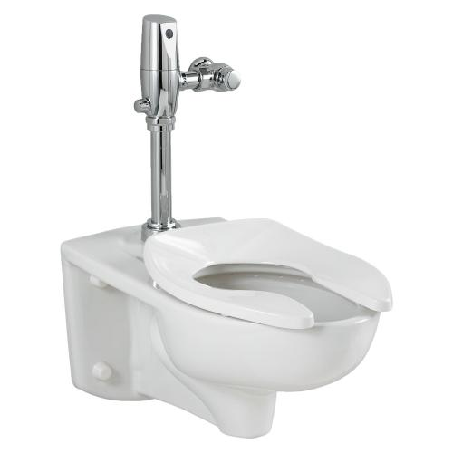 American Standard - Afwall 1.28 gpf Toilet System with Flush Valve - White