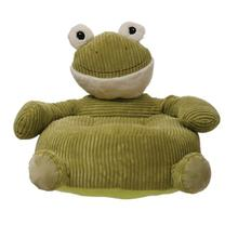 """Product Image - 23.5""""W x 20.5""""D x 20""""H Corduroy Plush Frog Lounge Chair, Green"""