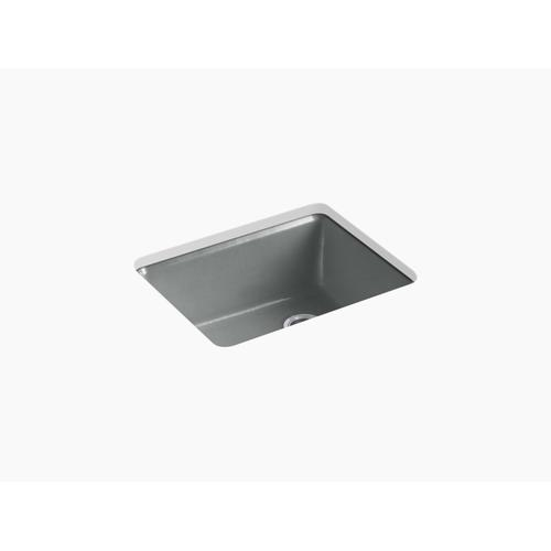 """Basalt 25"""" X 22"""" X 9-5/8"""" Undermount Single-bowl Kitchen Sink With Rack"""