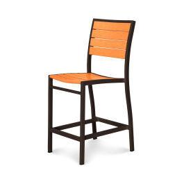 Polywood Furnishings - Eurou2122 Counter Side Chair in Textured Bronze / Tangerine