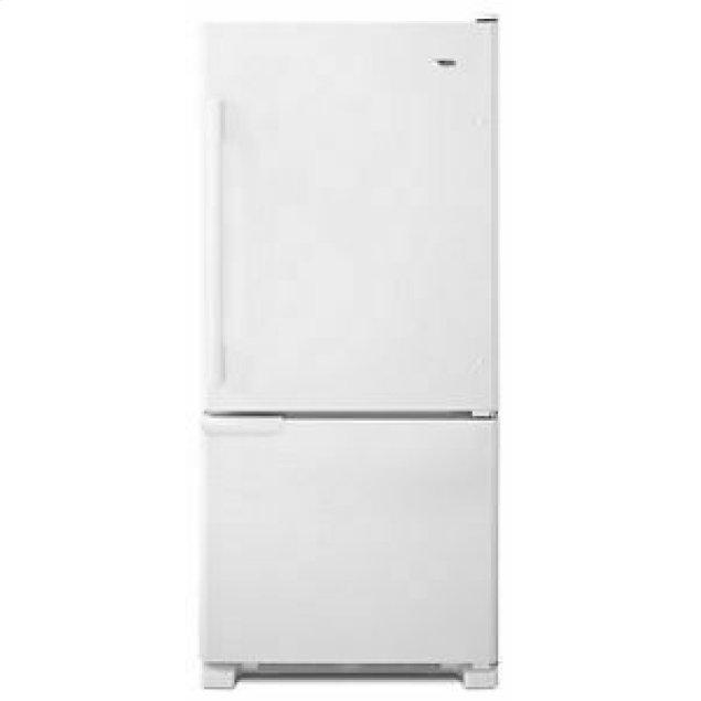 Amana 29-inch Wide Bottom-Freezer Refrigerator with Garden Fresh Crisper Bins -- 18 cu. ft. Capacity - White