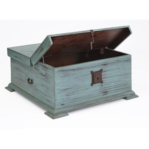 Progressive Furniture - Cocktail Trunk - Turquoise Finish