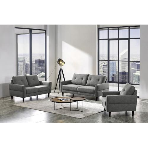 VIG Furniture - Divani Casa Clark Modern Grey & Beige Fabric Sofa Set