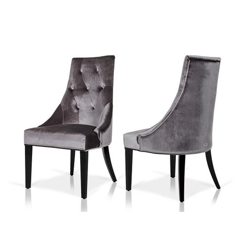 Gallery - A&X Charlotte - Grey Velour Dining Chair (Set of 2)