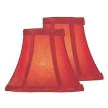 "See Details - 2 Pack - Candelabra Shade/red Silk - 3""tx6""bx5""sh"