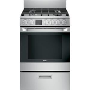 """Haier24"""" 2.9 Cu. Ft. Gas Free-Standing Range with Convection and Modular Backguard"""