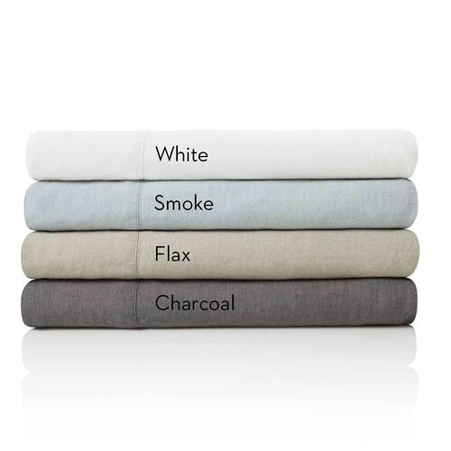 French Linen Queen Pillowcase Smoke
