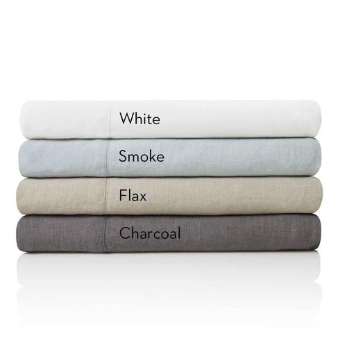 French Linen King Pillowcase Charcoal