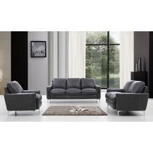 Product Image - Divani Casa Empire Modern Dark Grey Leather Sofa Set