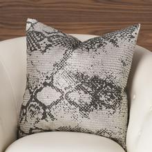 Shimmer Snake Skin Pillow-Silver
