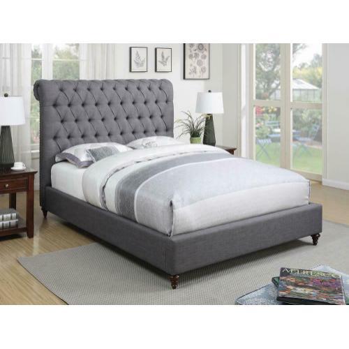 Devon Grey Upholstered Full Bed