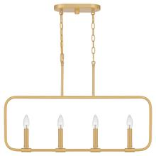 View Product - Abner Island Light in Aged Brass
