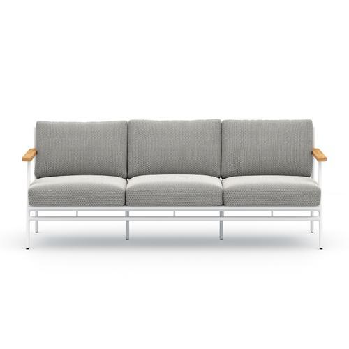 Four Hands - Faye Ash Cover Aroba Outdoor Sofa, White Aluminum