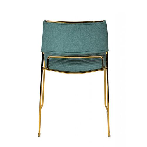 VIG Furniture - Modrest Swain Modern Green Fabric & Gold Dining Chair (Set of 2)