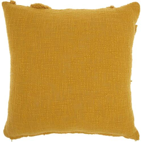 "Life Styles Sh018 Mustard 18"" X 18"" Throw Pillow"