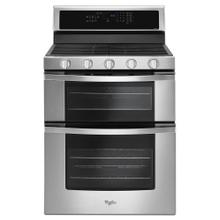 See Details - Whirlpool® 6.0 Cu. Ft. Gas Double Oven Range with Center Oval Burner