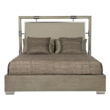 Queen Mosaic Upholstered Panel Bed in Dark Taupe (373)