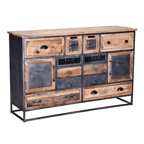 Progressive Furniture - Sideboard - Natural/Iron Finish