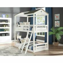 ACME Nadine Cottage Bunk Bed (Twin/Twin) - 37665 - Weathered White & Washed Gray