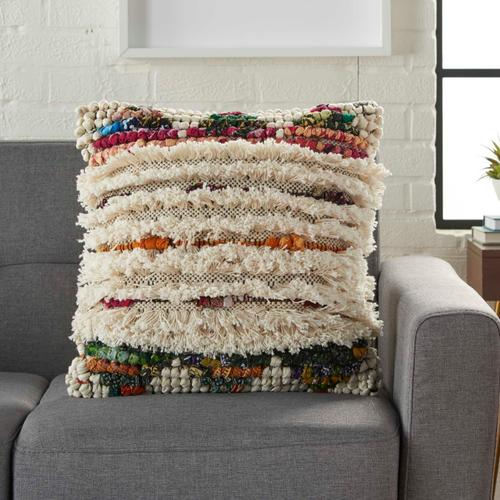 "Life Styles Zh712 Multicolor 20"" X 20"" Throw Pillow"