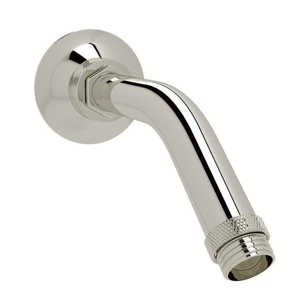 "Polished Nickel Michael Berman Graceline 6 5/8"" Wall Mount Shower Arm"