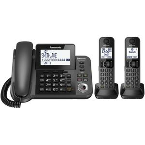Link2Cell Bluetooth® Corded / Cordless Cordless Phone and Answering Machine with 2 Cordless Handsets