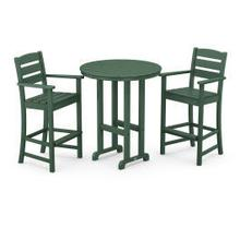 View Product - Lakeside 3-Piece Round Bar Arm Chair Set in Green