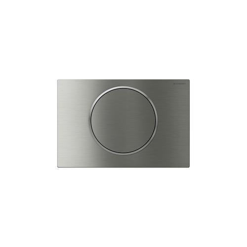 Sigma10 Flush plates for Sigma series in-wall toilet systems Brushed stainless steel with polished accent (vandal-resistant) Finish