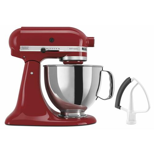 KitchenAid - Value Bundle Artisan® Series 5 Quart Tilt-Head Stand Mixer with Flex Edge Beater - Empire Red