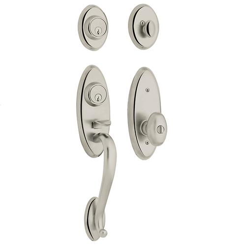 Polished Nickel with Lifetime Finish Landon Two-Point Lock Handleset