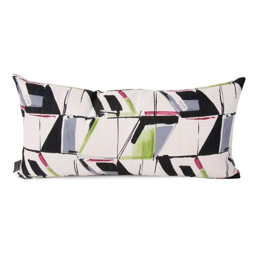 Howard Elliott - Kidney Pillow Abstract Fuchsia - Down Insert