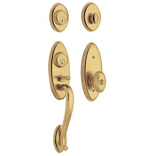 Lifetime Polished Brass Landon Two-Point Lock Handleset