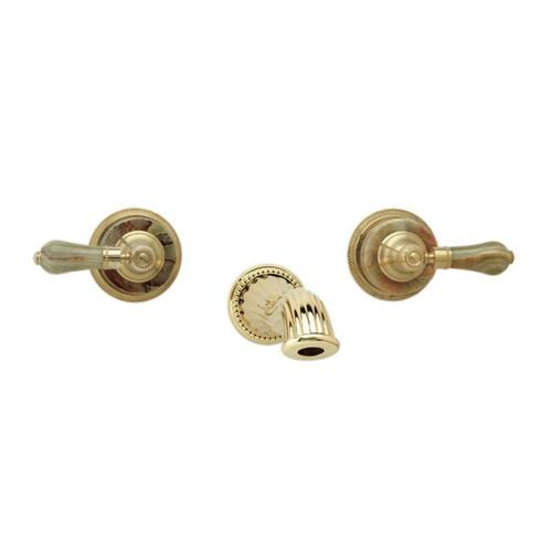 Phylrich - REGENT Wall Lavatory Set WL270 - Satin Gold with Satin Nickel