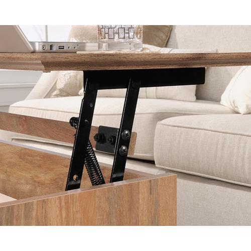 Lift-top Coffee Table with Open Shelf Storage