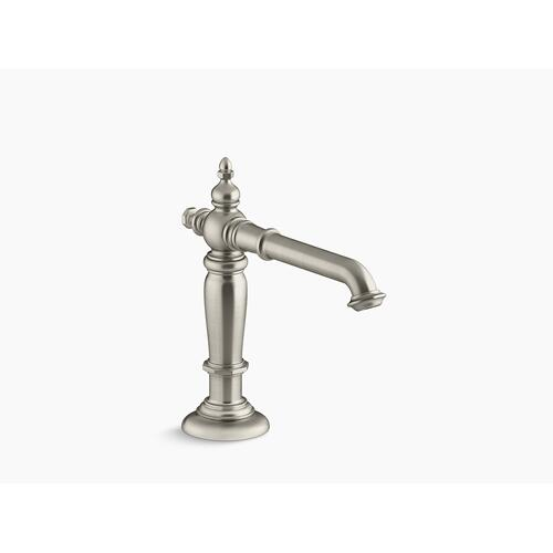 Vibrant Brushed Nickel Widespread Bathroom Sink Spout