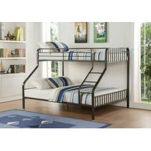 ACME Caius Twin XL/Queen Bunk Bed - 37605 - Gunmetal