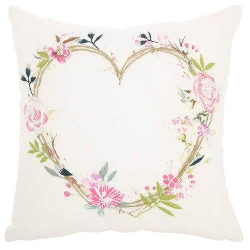 """Life Styles Hw414 Multicolor 18"""" X 18"""" Throw Pillow"""