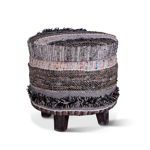 "Marrakech Storage Stool 18"" Fluffy Black"