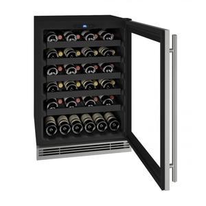 "U-LineHwc124 24"" Wine Refrigerator With Stainless Frame Finish (115v/60 Hz Volts /60 Hz Hz)"