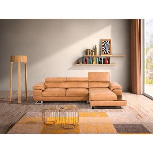 Gallery - Estro Salotti Invictus - Italian Modern Cognac Leather Right Facing Sofa