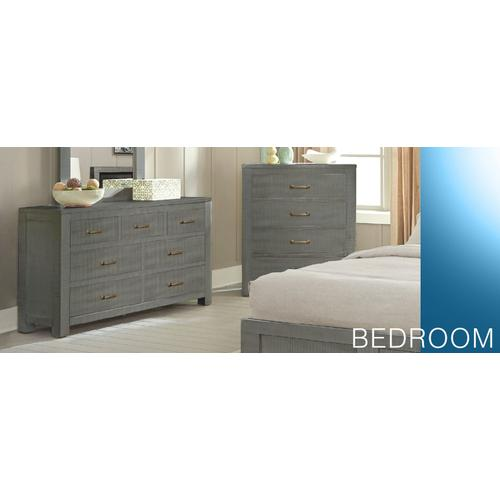 Ranch House Full Captains Bookcase Storage Bed