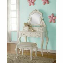 ACME Edalene Vanity & Mirror - 30516 - Pearl White