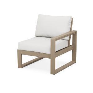 Polywood Furnishings - EDGE Modular Right Arm Chair in Vintage Sahara / Natural Linen