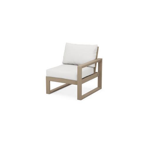 EDGE Modular Right Arm Chair in Vintage Sahara / Natural Linen