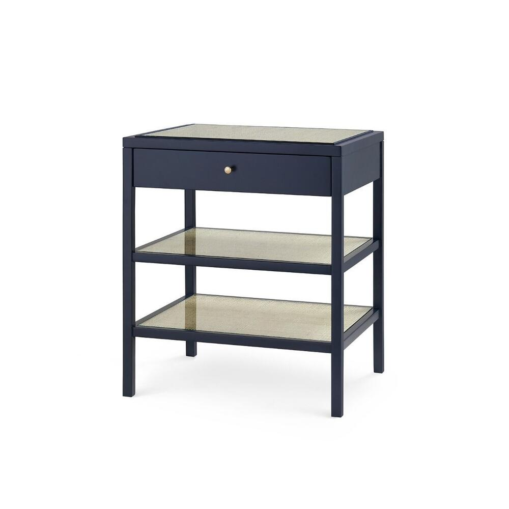 Caanan 1-Drawer Side Table, Midnight Blue