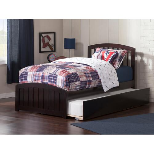 Richmond Twin Bed with Matching Foot Board with Urban Trundle Bed in Espresso