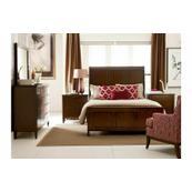 Caris Sleigh Queen Bed - Complete