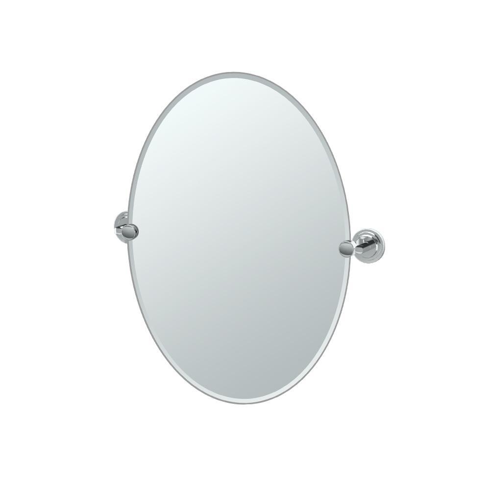 Marina Oval Mirror in Chrome